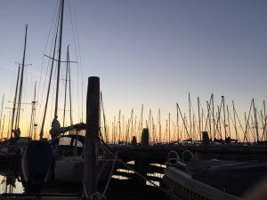 Sonnenaufgang aus der Plicht