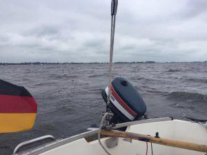 Etwas ungemütlich aber Segelwetter auf dem Heegermeer